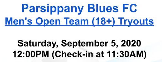Tryouts at Parsippany Blues FC